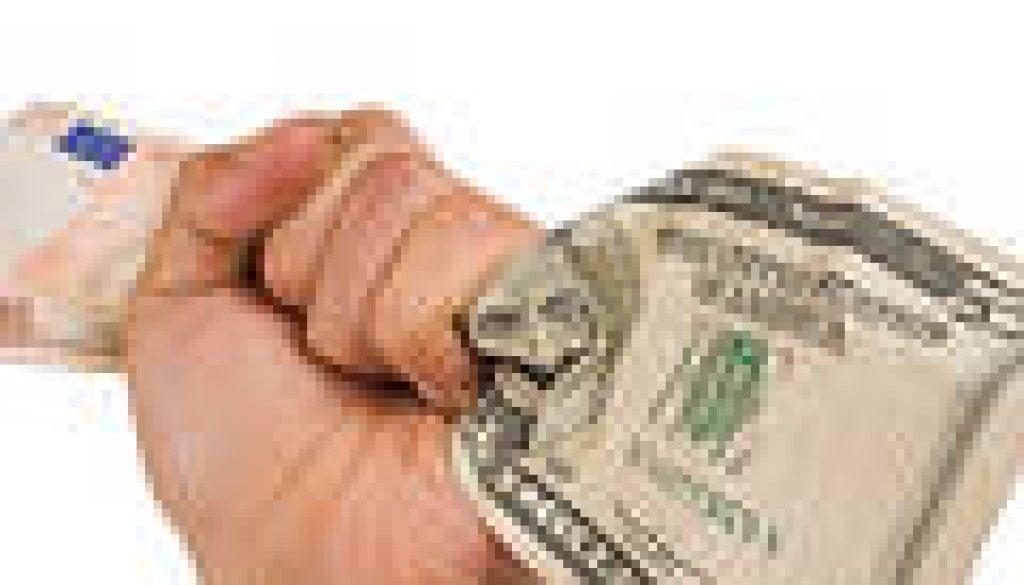 יד אוחזת דולר