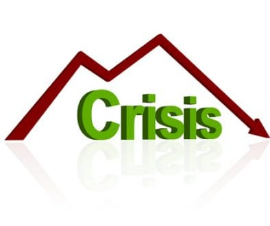crisis word isolated on white background