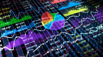 48864735 - stock exchange 3d graph background, 3d illustration